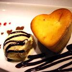 ルーディリシャス - シナモンアップル入りベイクドチーズタルト