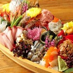 国分寺 魚しげ - 舟盛り、ご予約にて承ります。