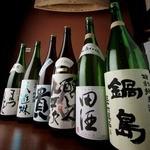 国分寺 魚しげ - 日本酒は常に入れ替えてます。30種類常備。プレミアはスタッフまで