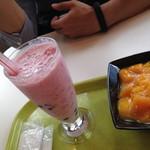 ピンピンホァ - いちごミルク+タピオカ