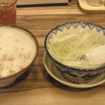 利久 - 麦ごはん テールスープ