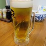 うどん満月 - 生ビール 550円