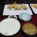 天ぷら ちはら - 天ぷら定食(あなご)のはじまり
