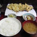 天ぷら ちはら - 天ぷら定食(きす)