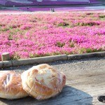 松本製パン - 2015年4月 芝桜を見ながら。うぐいす【120円】ロースハムロール【120円】