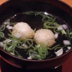 北新地うのあん - 【新地でランチ】 親子丼とつみれ汁のセット 960円