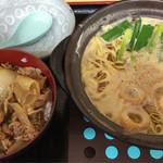 ちゅるちゅる - 鍋焼きラーメン牛丼セット