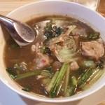 39463419 - オムガイ(680円) ※ラオス野菜と鶏肉スープ