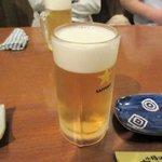 あずまし亭 - 生ビール2015.06.29