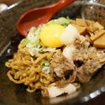 in EZO - 油そば + 玉味噌飯