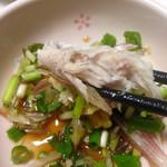 益田商店 元祖朽木屋 - ミョウガ、小葱、生姜、大葉を刻んでダシ醤油♬