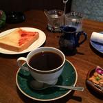 プランタン - 日替わりコーヒー 380円 (モーニングサービスのトースト付き)