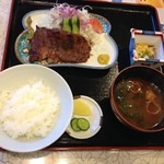銀ちろ本店 - 牛肉の山椒焼き定食 1700円 (銀ちろ)