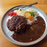 レストランホワイト キッチン - 和牛100パーセント ハンバーグカレー