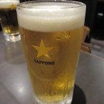 やじろべえ - 生ビール(中) 520円