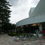 のんのスタジアム - 店の前の喫煙スペース