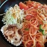 プワール - 料理写真:ちゃんとアルデンテ♪トマトスパゲティー880円税込