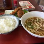 西本商店 - 料理写真:日替わりはうどんとフライ