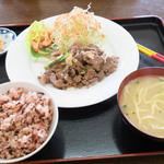 西表島 グリーンファーム 猪狩家 - 猪肉炒めの定食