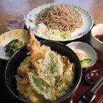 明日葉 - ミニ天丼蕎麦セット