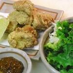 鶏の唐揚げ野菜巻き