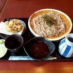 鎌倉からり - 石臼挽き蕎麦(500円) ,桜えびのかき揚げ(300円)