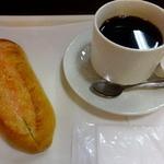 阪急ベーカリー&カフェ - ワンパンセット(コーヒー付き)340円
