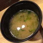 まぐろ一代 - 蔵前(1,020円)の味噌汁2015年6月