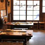 お好み焼 長田屋 - 全席鉄板つきのお席です。