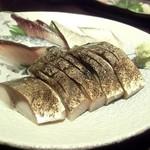 海鮮旬魚 悠 - 以前訪問時の炙り〆サバ