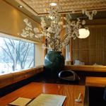 鎌倉 松原庵 欅 - カウンター席 2015年3月
