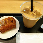 ノードカフェ - ロイヤルミルクティーとアップルパイ