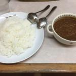 新川デリー - キーママターカレー ライス大盛 1150円       (ラムの挽肉とグリーンピース)