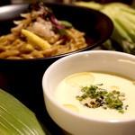 麺や 庄の gotsubo - 冷たいトウモロコシのつけめん