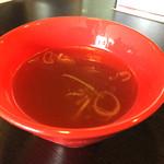 めんらく亭 - 鶏ガラベースのスープ