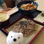 天丼の岩松 - そばセット Buckwheat Noodles Combo & Draft Beer at Tendon-no-Iwamatsu, Aeon Kurihama!♪☆(*^o^*)