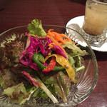 39526990 - ランチCセットのプチスープ・野菜サラダ。
