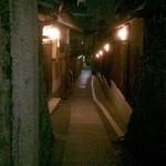 京料理屋 嵐山さくら - 石塀小路の路地裏