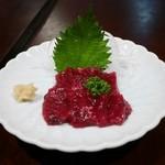 百壺 - 赤身上刺(イワシクジラ)¥950