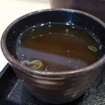 ゆで太郎 - そば湯