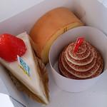 菓子工房 BooHooWoo - いちごフレーズ・ロールケーキ・チョコバナナのタルト