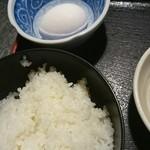 えり瀬 - 生玉子、ご飯