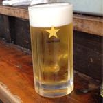 立ち飲み 晩杯屋 - 生ビール 410円 サッポロ中ジョッキ