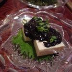 与那国そば 居酒屋 ドゥチィ - イカスミ豆腐
