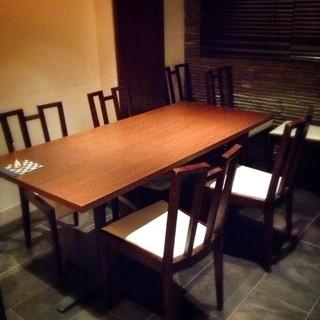 【半個室】〜8名様完備。事前のご予約でコースもご用意出来ます