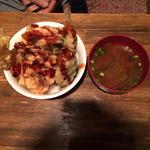 龍のおとし子 - 魚と野菜の盛り天丼 680円