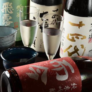 十四代・獺祭・而今等銘酒の数々!