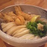 39559336 - 鶏天ぶっかけ(太麺)