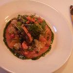 フランス食堂 ビストロ ポーレット - 前菜サーモンの甘夏ドレッシング