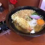 39565462 - エビ天うどんに玉子。と巻き寿司
